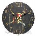 Zegar piracki na ścianę