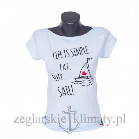 Koszulka damska Life is simple