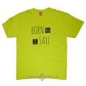 Koszulka męska BORN to SAIL soczysta zieleń