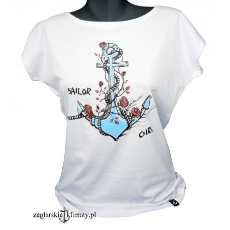 Koszulka damska KOTWICA z różami
