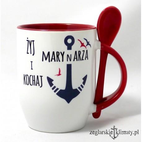 Kubek Żyj i Kochaj Marynarza