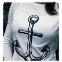T-shirt damski długi rękaw z KOTWICĄ