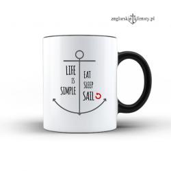 Duży kubek Life is simple
