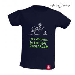 Koszulka dla chłopca Będę Żeglarzem 3-6 lat