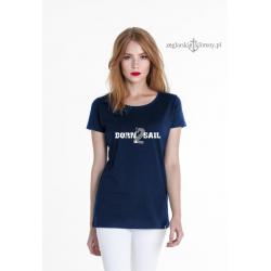 Koszulka damska premium BORN 2 SAIL