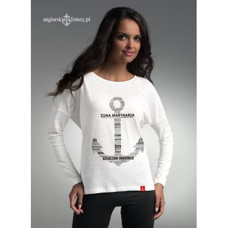 Bluzka długi rękaw Żona/ Dziewczyna Marynarza KOTWICA