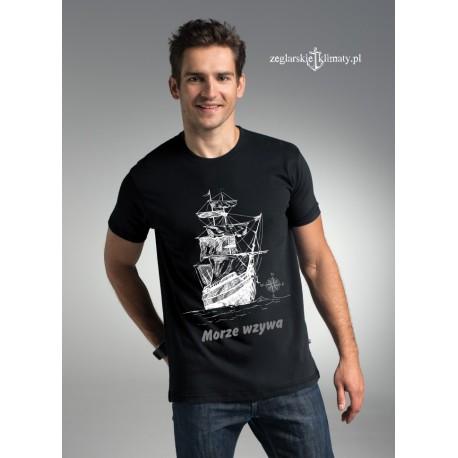 Koszulka męska premium MORZE WZYWA