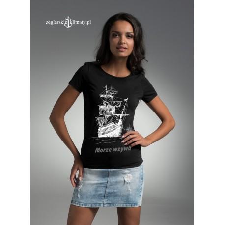 Koszulka damska premium MORZE WZYWA