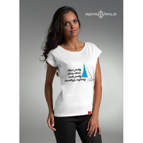 Koszulka damska Małe jachty....
