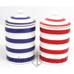 Ceramiczny pojemnik w paski DUŻY