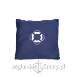Poduszka z haftem koło ratunkowe