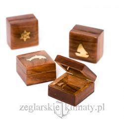 Małe pudełko palisander - 4 wzory