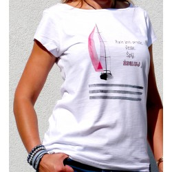 Koszulka damska malowana Żegluj!