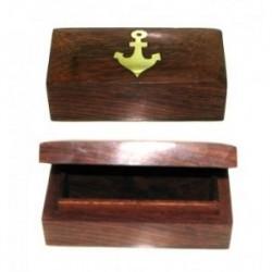 Pudełko palisander z kotwicą