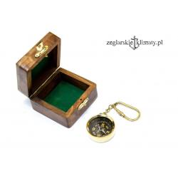 Breloczek - KOMPAS w pudełku palisander