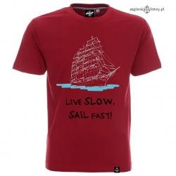 Koszulka męska LIVE SLOW, SAIL FAST