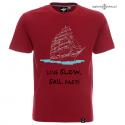 Koszulka męska LIVE SLOW, SAIL FAST!