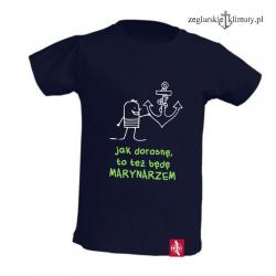 Koszulka dla chłopca Zostanę Marynarzem 3-6 lat