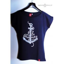 Koszulka damska 3D Kotwica -ML Marine
