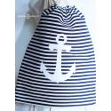 Plecak- worek w paski z kotwicą
