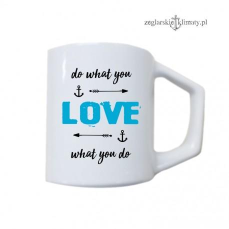 Duży biały kubek Do what you LOVE