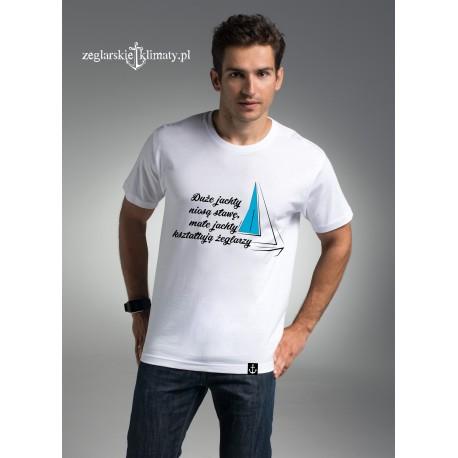 Koszulka męska premium Małe jachty....