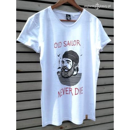 Koszulka męska biała OLD SAILOR