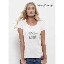 Koszulka damska AHOJ! (boat)