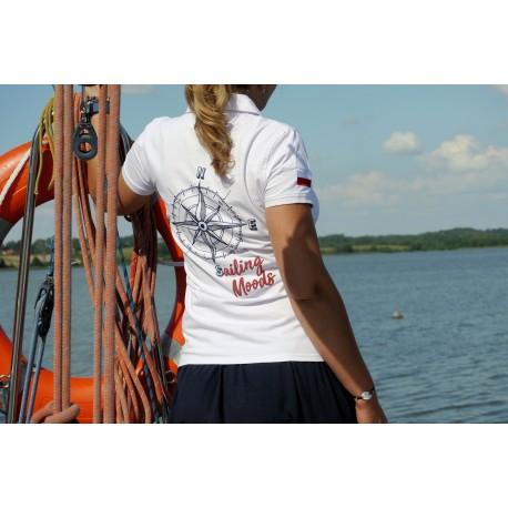 Polo damskie białe Sailing Moods