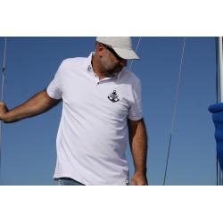 Polo męskie białe Sailing Moods