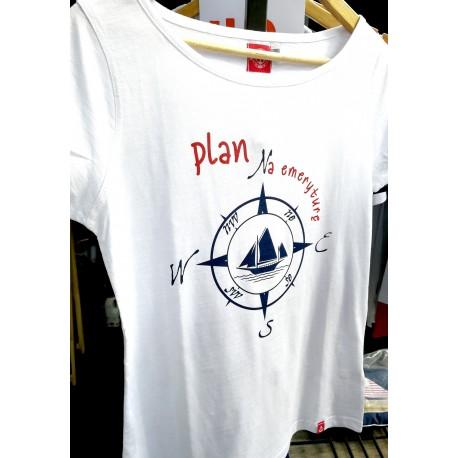 Koszulka damska biała PLAN na emeryturę