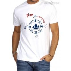 Koszulka męska premium biała Plan na emeryturę :-)
