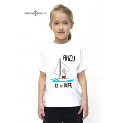 Koszulka dziecięca premium AHOJ Ci w rufę