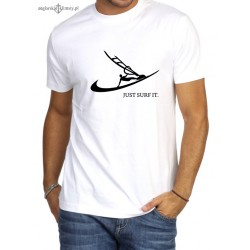 Koszulka męska premium JUST SURF IT.