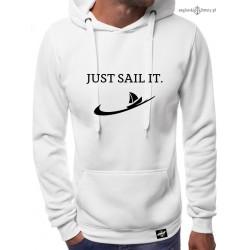 Bluza męska biała JUST SAIL IT.