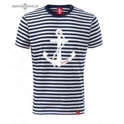 Koszulka unisex w marynarskie paski SAILING