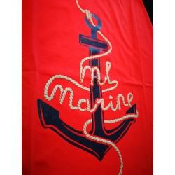 Koszulka damska czerwona ML Marine (3D)