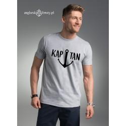 Koszulka męska szara KAPITAN