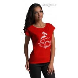 Koszulka damska Żeglarskie Klimaty czerwona