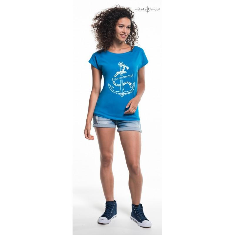 64808b7c2196ce Koszulka damska Żeglarskie Klimaty niebieska