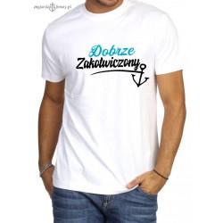 Koszulka męska premium Dobrze Zakotwiczony :-)