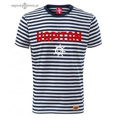 Koszulka unisex w marynarskie paski KAPITAN
