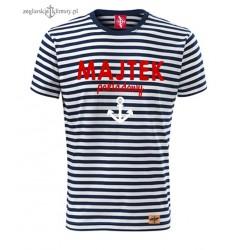 Koszulka unisex w marynarskie paski MAJTEK pokładowy