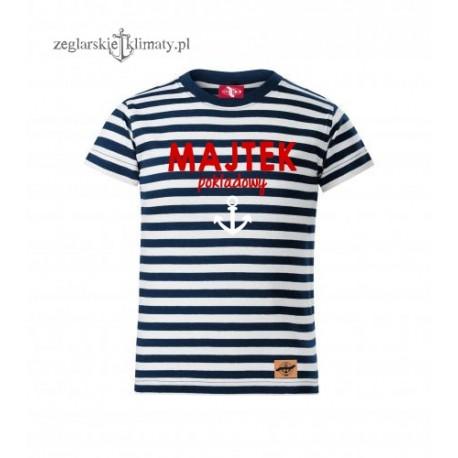 Koszulka dziecięca paski MAJTEK pokładowy :-)