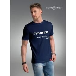 Koszulka męska premium MORZE mnie kręci
