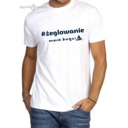 Koszulka męska premium ŻEGLOWANIE mnie kręci