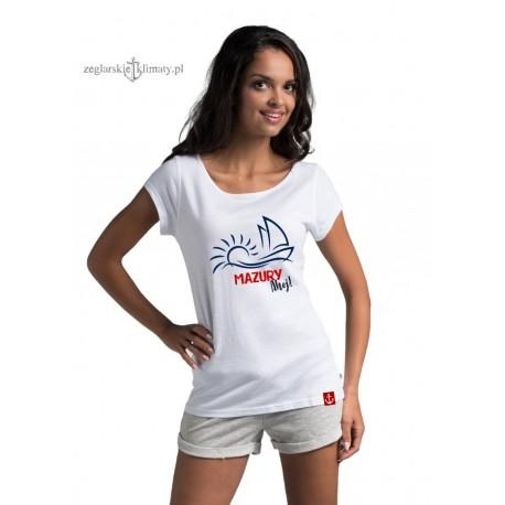 Koszulka damska MAZURY ahoj!
