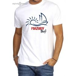 Koszulka męska premium MAZURY Ahoj!
