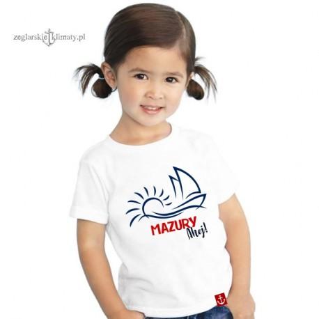 Koszulka dziecięca premium MAZURY ahoj!