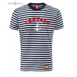 Koszulka unisex w marynarskie paski CAPTAIN